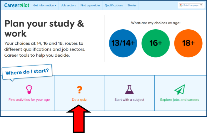 Careerpilot : Get information : Help and support : Y8: Start here